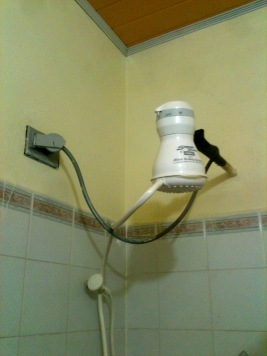 Where hot water comes from for a shower