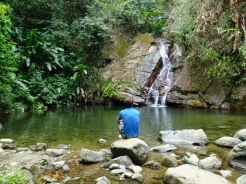 Waterfall hike - Castara