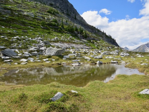 Tarn near the weather station